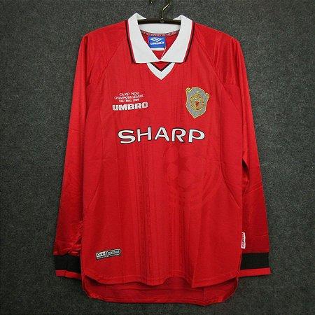 Camisa Manchester United 1999-2000 (Home-Uniforme 1) - Manga Longa