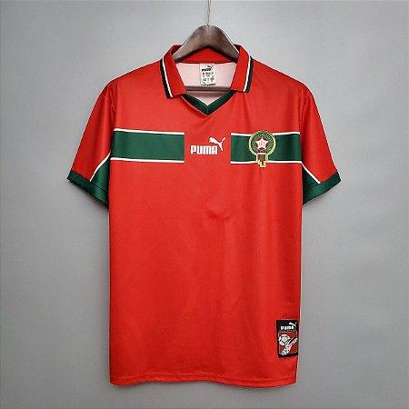 Camisa Marrocos 1998 (Away-Uniforme 2)  - Copa do Mundo