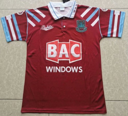 Camisa West Ham  1991-1992 (Home-Uniforme 1)