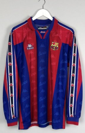 Camisa Barcelona 1996-1997 (Home-Uniforme 1) - manga longa