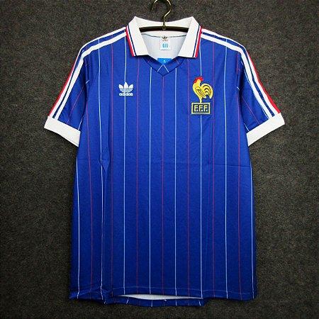 Camisa França  (Home-Uniforme 1) - Copa do Mundo 1982