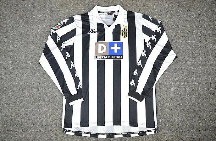 Camisa Juventus 1999-2000 (Home-Uniforme 1) - Manga Longa