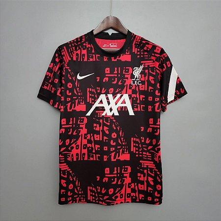 Camisa Liverpool 2020-21 (pré-jogo Champions League)