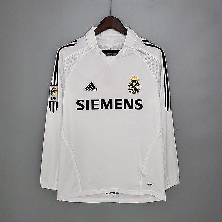 Camisa Real Madrid 2005-2006 (Home-Uniforme 1) - Manga Longa