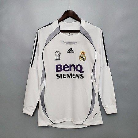 Camisa Real Madrid 2006-2007 (Home-Uniforme 1) - Manga Longa