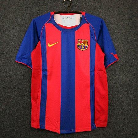 Camisa Barcelona 2004-2005 (Home-Uniforme 1)