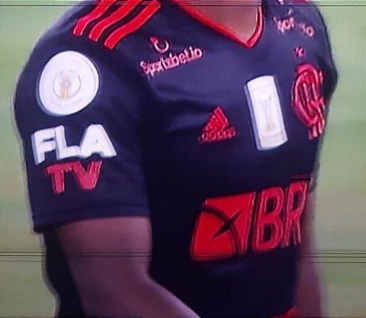 """Camisa Flamengo 2020 (Uniforme 3) """"FLA TV + Patches""""  -  (com todos patrocínios)"""