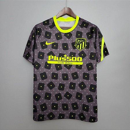 Camisa Atlético de Madrid (treino- 2) 2020-21