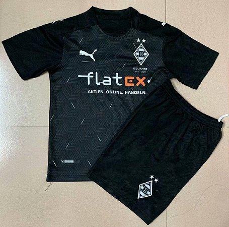 Conjunto Infantil (Camisa + Shorts) Borussia Monchengladbach 2020-2021 (Away-Uniforme 2)