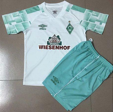 Conjunto Infantil (Camisa + Shorts) Werder Bremen 2020-2021 (Away-Uniforme 2)
