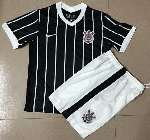 Conjunto Infantil (Camisa + Shorts) Corinthians 2020-2021 (Away-Uniforme 2)