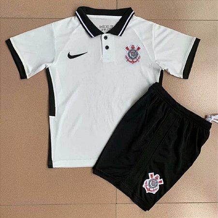 Conjunto Infantil (Camisa + Shorts) Corinthians 2020-2021 (Home-Uniforme 1)