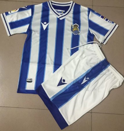 Conjunto Infantil (Camisa + Shorts) Real Sociedad 2020-2021 (Home-Uniforme 1)