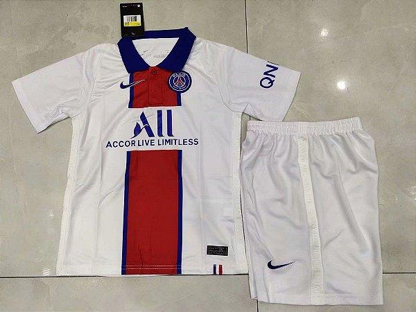 "Conjunto Infantil (Camisa + Shorts) Paris Saint Germain ""PSG"" 2020-2021 (Away-Uniforme 2)"