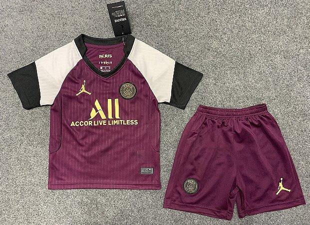 "Conjunto Infantil (Camisa + Shorts) Paris Saint Germain ""PSG"" 2020-2021 (Third-Uniforme 3)"
