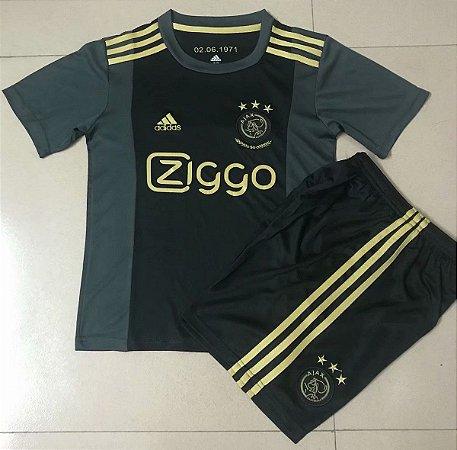 Conjunto Infantil (Camisa + Shorts) Ajax 2020-2021 (Third-Uniforme 3)