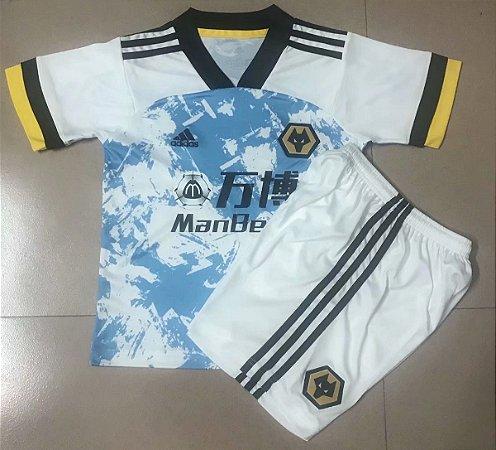 "Conjunto Infantil (Camisa + Shorts) Wolverhampton ""Wolves"" 2020-2021 (Away-Uniforme 2)"