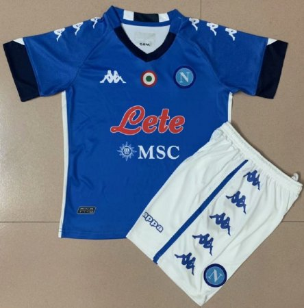 Conjunto Infantil (Camisa + Shorts) Napoli 2020-2021 (Home-Uniforme 1)