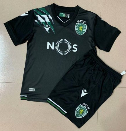 Conjunto Infantil (Camisa + Shorts) Sporting 2020-2021 (Away-Uniforme 2)