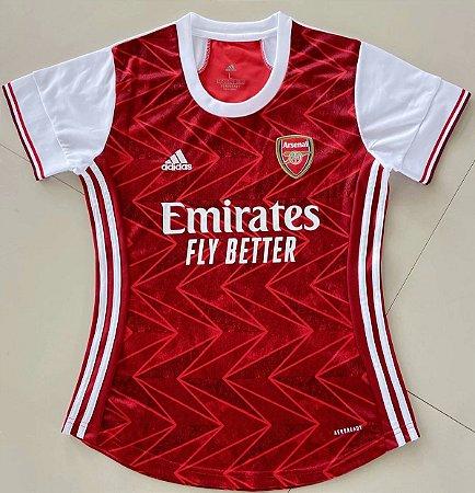 Camisa Arsenal 2020-21  (Home-Uniforme 1)  - Feminina