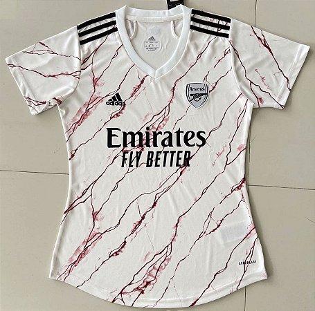 Camisa Arsenal 2020-21  (Away-Uniforme 2)  - Feminina