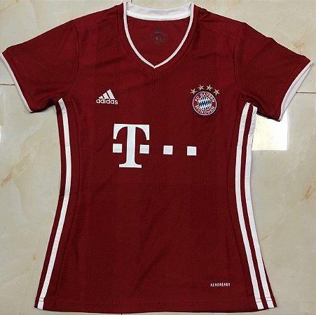 Camisa Bayern Munich 2020-21  (Home-Uniforme 1)  - Feminina