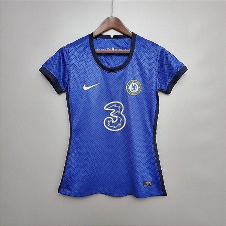 Camisa Chelsea 2020-21  (Home-Uniforme 1)  - Feminina