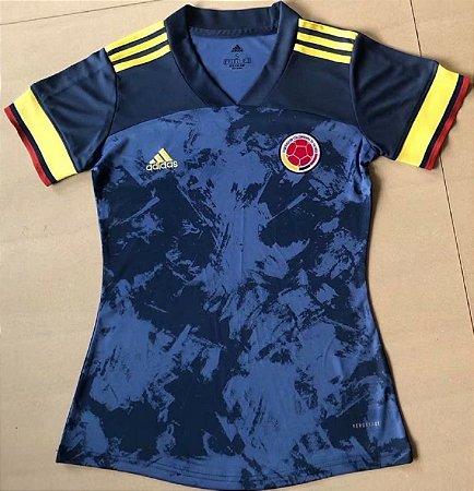 Camisa Colômbia 2020  (Away-Uniforme 2)  - Feminina
