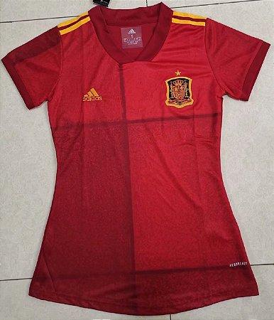 Camisa Espanha 2020-21  (Home-Uniforme 1)  - Feminina