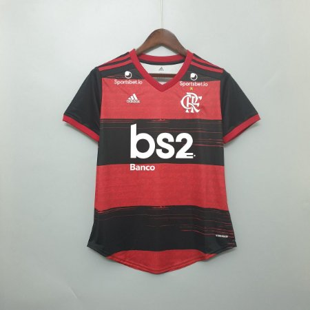 Camisa Flamengo 2020-21  (Home-Uniforme 1)  - Feminina (com patrocínios)