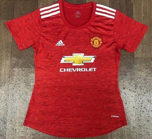 Camisa Manchester United 2020-21  (Home-Uniforme 1)  - Feminina