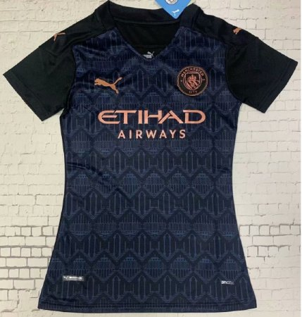 Camisa Manchester City 2020-21  (Away-Uniforme 2)  - Feminina