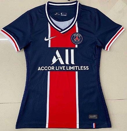 "Camisa Paris Saint Germain ""PSG"" 2020-21  (Home-Uniforme 1)  - Feminina"