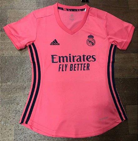 Camisa Real Madrid 2020-21  (Away-Uniforme 2)  - Feminina