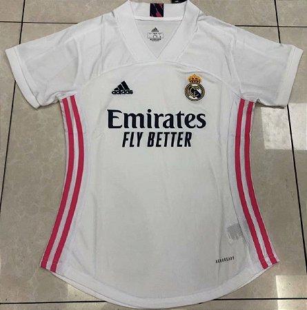 Camisa Real Madrid 2020-21  (Home-Uniforme 1)  - Feminina