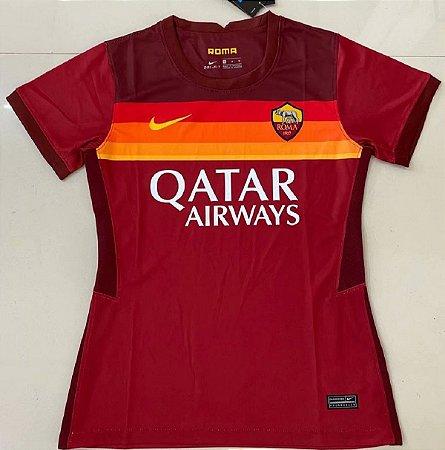 Camisa Roma 2020-21  (Home-Uniforme 1)  - Feminina