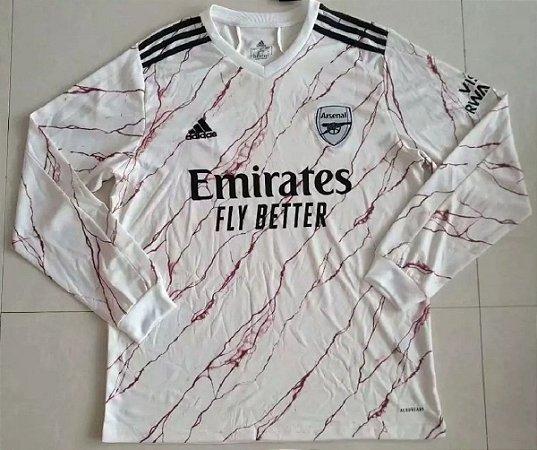 Camisa Arsenal 2020-21 (Away-Uniforme 2) - manga longa