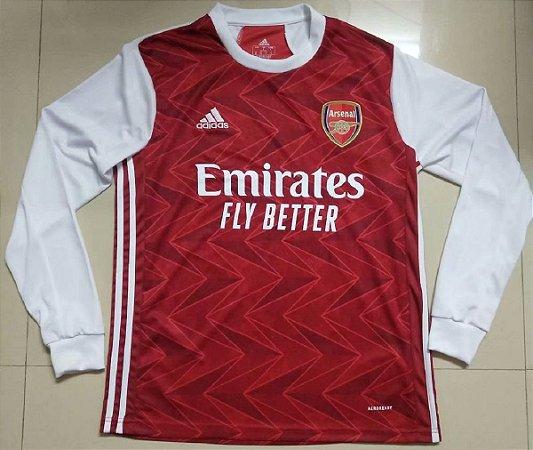 Camisa Arsenal 2020-21 (Home-Uniforme 1) - manga longa