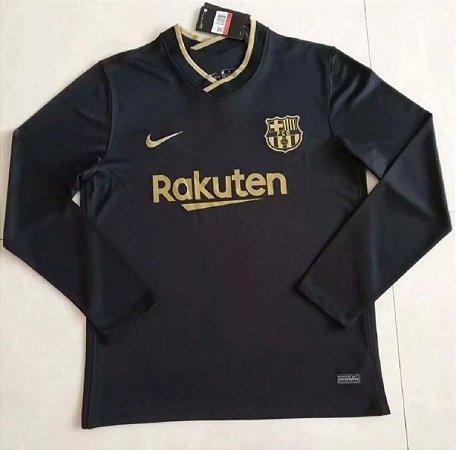 Camisa Barcelona 2020-21 (Away-Uniforme 2) - manga longa