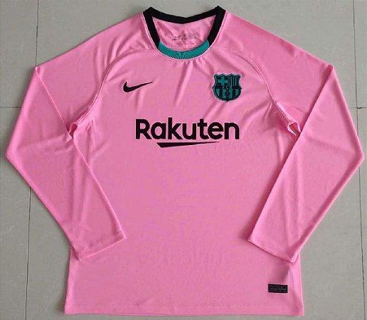 Camisa Barcelona 2020-21 (Third-Uniforme 3) - manga longa