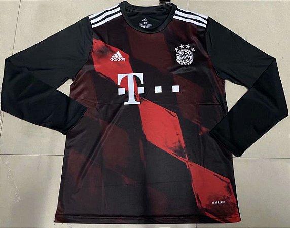 Camisa Bayern Munich 2020-21 (Third-Uniforme 3) - manga longa