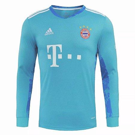 Camisa Bayern Munich 2020-21 (goleiro-azul) - manga longa