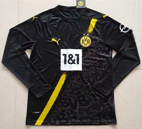 Camisa Borussia Dortmund 2020-21 (Away-Uniforme 2) - manga longa