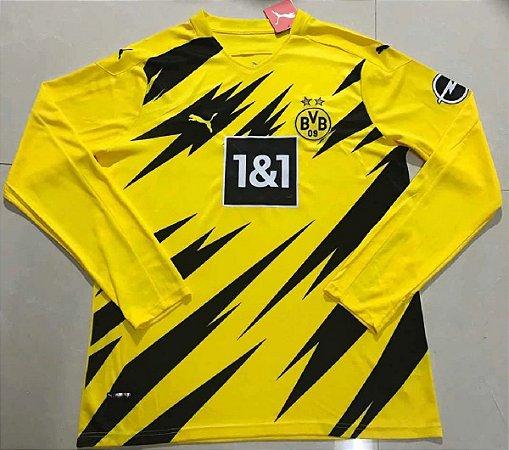 Camisa Borussia Dortmund 2020-21 (Home-Uniforme 1) - manga longa