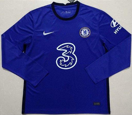 Camisa Chelsea 2020-21 (Home-Uniforme 1) - manga longa