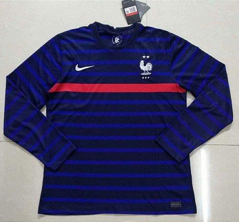 Camisa França 2020-21 (Home-Uniforme 1) - manga longa