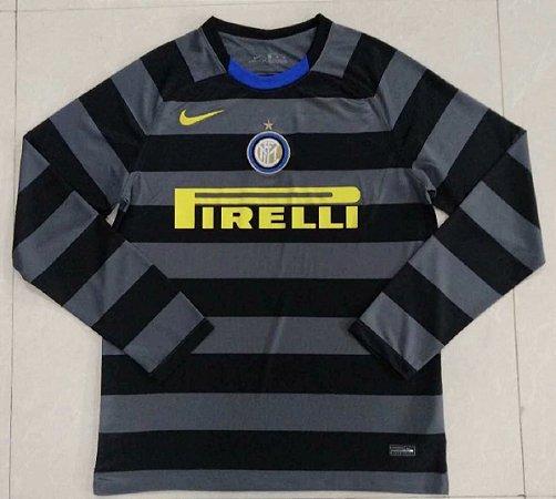 Camisa Internazionale 2020-21 (Third-Uniforme 3) - manga longa