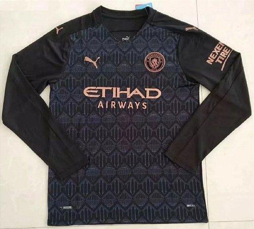 Camisa Manchester City 2020-21 (Away-Uniforme 2) - manga longa