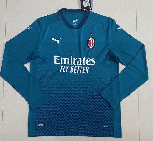 Camisa Milan 2020-21 (Third-Uniforme 3) - manga longa