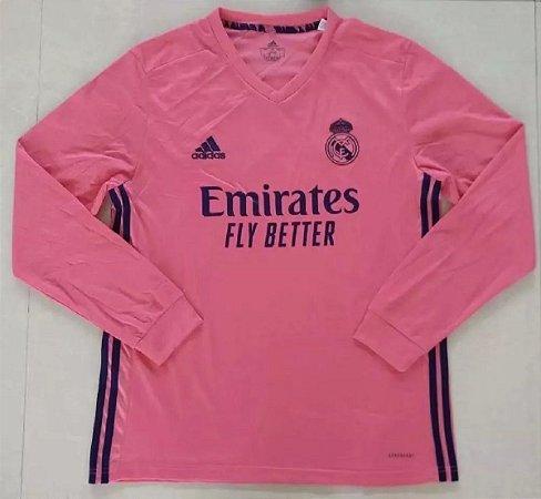 Camisa Real Madrid 2020-21 (Away-Uniforme 2) - manga longa